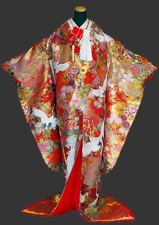 神社 結婚式 食事会 色打掛衣装 華やか 刺繍  栃木 群馬 埼玉