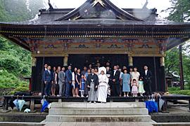 群馬県 富岡市 妙義神社 結婚式 食事会 2人だけ 家族だけ 少人数